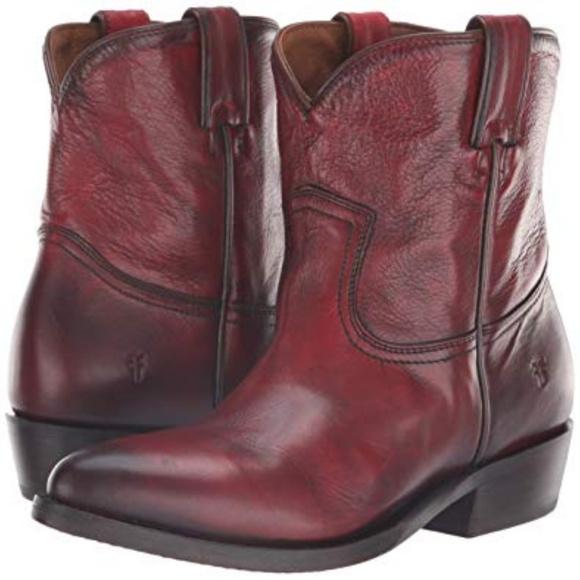 637d3f50dd2 🌻🌼Western Billy Short Boot Burnt Red 6.5🌻🌼 NWT